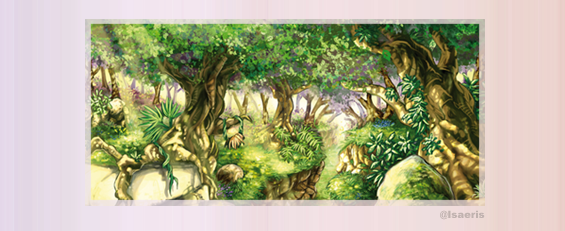 Isabelle Goydadin - Paysage de forêt