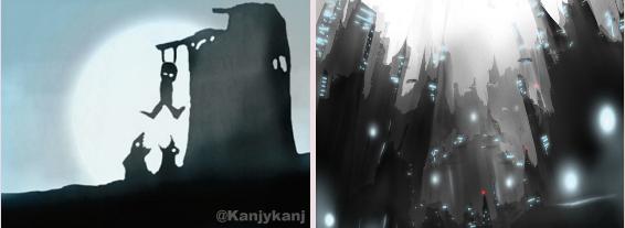 Deux dessins de Laurent Righetti : un univers glauque et... délirant.