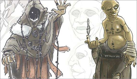 Illustrations d'anciens projets persos