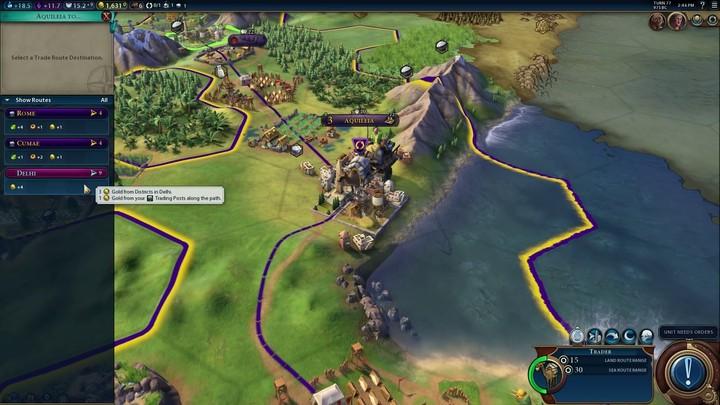 Civilization VI : présentation de Rome