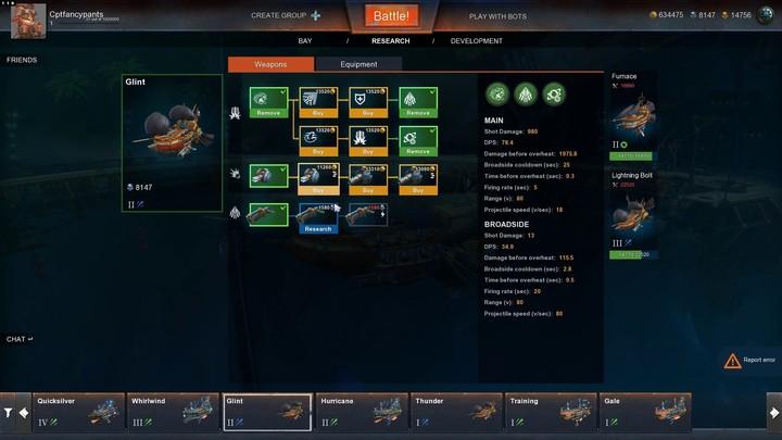 Premiers pas dans Cloud Pirates : améliorer son navire