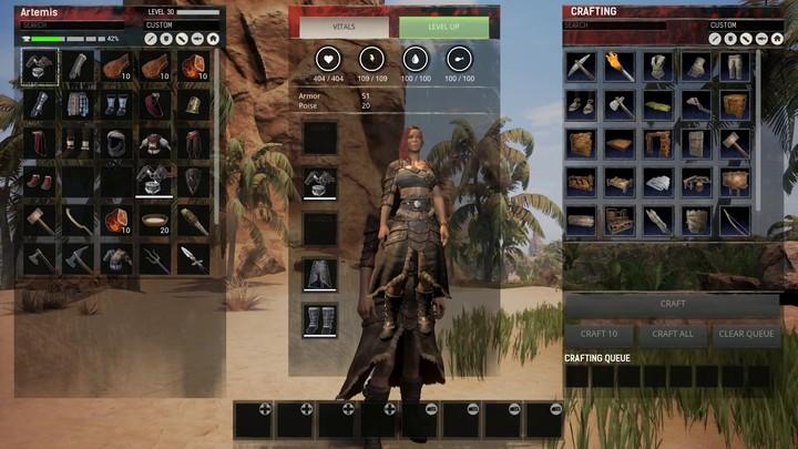Développement en cours : aperçu du système de teintures de Conan Exiles