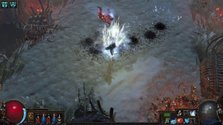 Confrontation avec le dieu mineur Abberath de Path of Exile