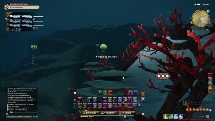FFXIV Stormblood - Plongée en mer de rubis