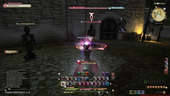 FFXIV Stormblood - Apercu du Mage Rouge