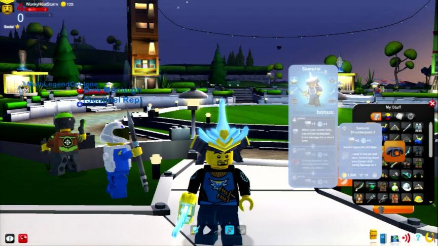 Personnaliser son avatar dans LEGO Universe