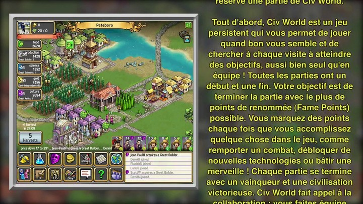 Aperçu du gameplay de Civ World (VOST)