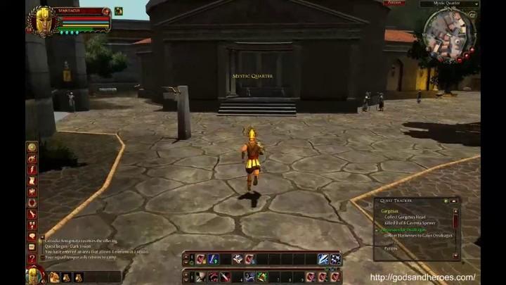 Présentation des zones de départ de Gods and Heroes