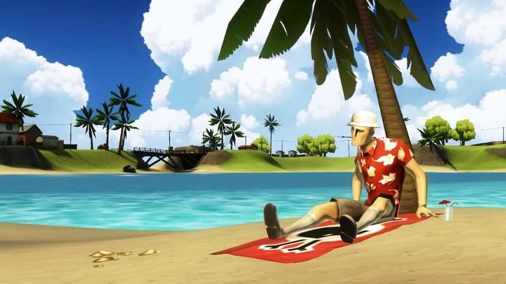 La carte de Wake Island de Battlefield Heroes