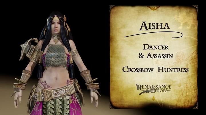 Zoom sur Aisha, la beauté meurtrière du MOBA Renaissance Heroes