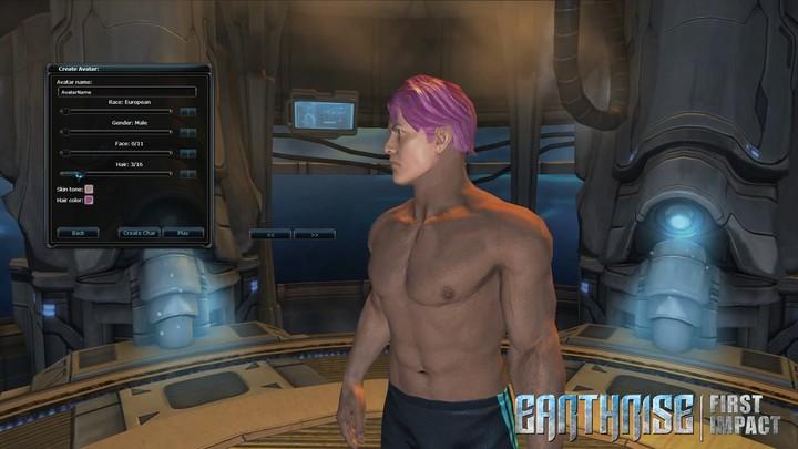 La création de personnage d'Earthrise: First Impact (alpha, v2)