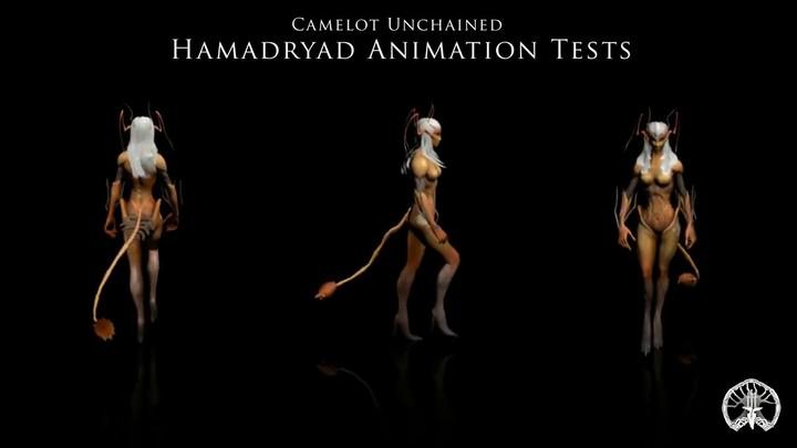 Animation 3D du modèle Hamadryade