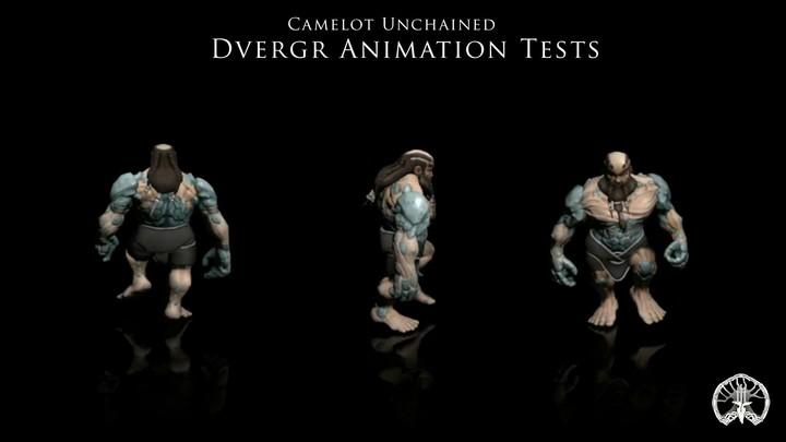 Test d'animation pour le modèle Dvergr de Camelot Unchained
