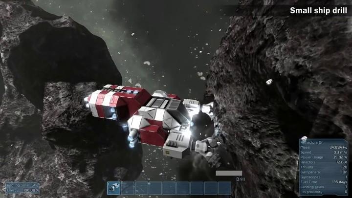 L'ajout du minage sur Space Engineers
