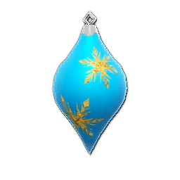 Icon props Theme Seasonal Winter Ornaments BlueCone01 256.png