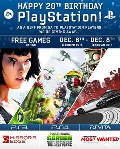 Plants vs. Zombies: Garden Warfare, Mirror's Edge et Need for Speed Most Wanted gratuits sur le PSN