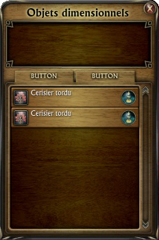 Liste d'objets