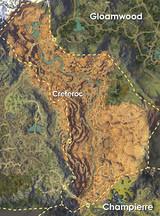 Carte des Gorges Ecarlates