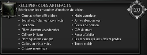Artéfact collection pêche