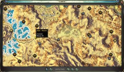 fléau des sables - map