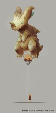 Concept Art du Ballon Laethys