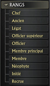 Rangs de guilde au départ