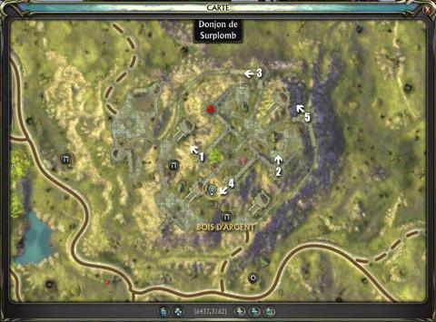 Carte du Donjon du Surplomb de Rift