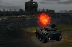 Tank en feu
