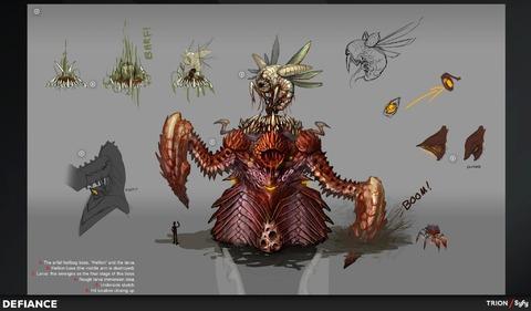 Concept art de l'Hellion Messoran