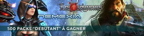 Nemexia ou les Seigneurs, 500 packs « débutant » à gagner