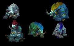 Formes de druide : Trolls et  Worgens