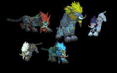 Cataclysm: formes de druide troll (félin)