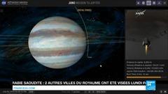 Capsule temporelle - La sonde Juno en orbite autour de la planète Jupiter