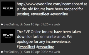 Capture d'écran de deux tweets venant de CCP