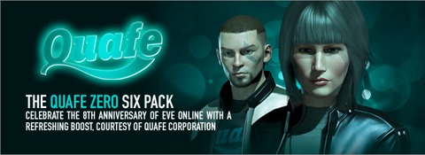 The Quafe Zero Six Pack - Celebrate the 8TH Anniversary of EVE Online