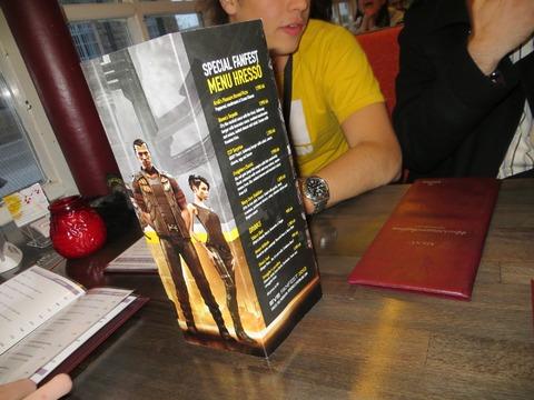 EVE même au restaurant