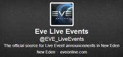 L'évènementielle sur le twitter d'EVE Online