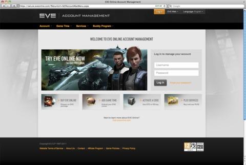 """EVE Online """"Account Management"""" a été amélioré"""