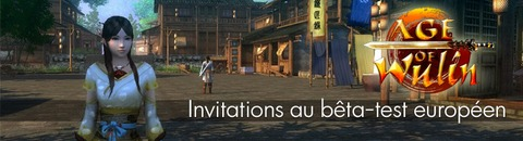 1000 invitations à participer au bêta-test européen d'Age of Wulin