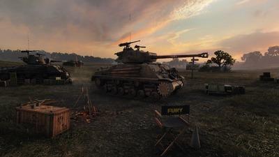 Un  M4A3E8 «Fury» pour la sortie du film Fury