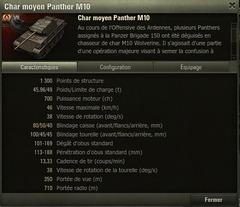 Détails Panther M10
