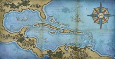 Carte des Caraïbes