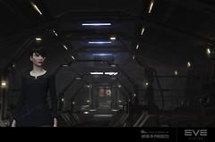 Retrait des quartiers du capitaine, une porte se ferme sur EVE Online