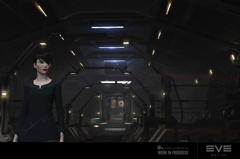 EVE Online - Retrait des quartiers du capitaine, une porte se ferme sur EVE Online