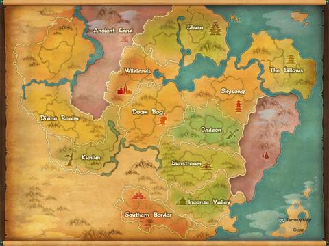 Les régions de Jade Dynasty