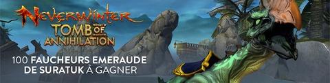 Neverwinter - Distribution exclusive : 100 montures rares « Faucheur émeraude de Suratuk » de Neverwinter à gagner