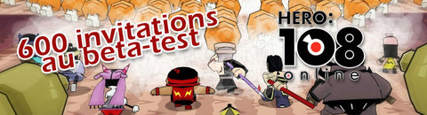 600 accès premium au bêta-test d'Hero 108 Online