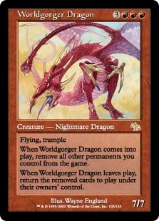 Worldgorger Dragon réautorisé en Commander