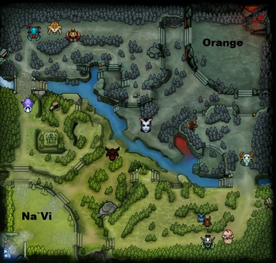 The International 2013 : line-up Orange contre Na`Vi, partie 1