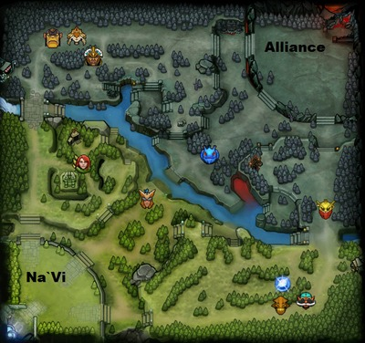 The International 2013 : line-up Alliance contre NaVi, partie 1